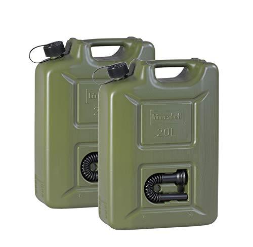 2 Stück Benzinkanister 20 L Kraftstoff-Kanister Reservekanister UN-Zulassung Diesel-Kanister