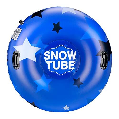 Leader Accessories aufblasbar Schlitten Schneereifen Rodelreifen SnowTube Rutschunterlage Schneeschlauch Kinder Erwachsene Ø119X35cm Stern