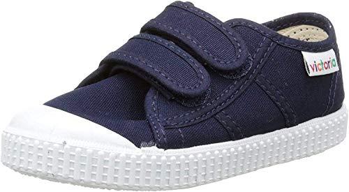 victoria Unisex-Kinder Basket Lona Dos Velcros Sneaker, Blau - Bleu (30 Marino), 33 EU