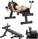 Cnley Banco plegable para mancuernas Dartphew Slant Board diseño plegable para sentadillas, banco de mancuernas para ejercicios de altura ajustable, gimnasio y equipo de fitness en casa