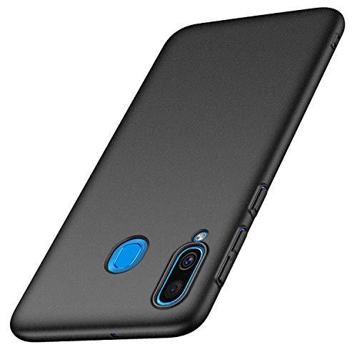 Anccer Funda Samsung Galaxy A40, Ultra Slim Anti-Rasguño y Resistente Huellas Dactilares Totalmente Protectora Caso de Duro Cover Case para Samsung A40 (Grava Negro)