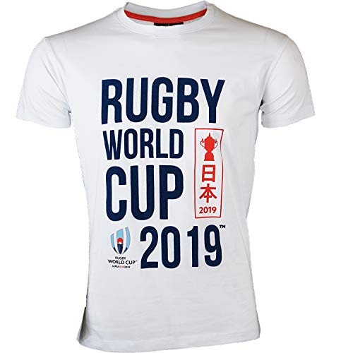 T-Shirt Rugby World Cup 2019, offizielle Kollektion Rugby World Cup M weiß