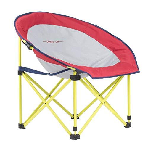 JYQ-SZRQ Silla de Camping Plegable Silla de Playa platillo Luna con sillas de Picnic Bolsa de Transporte Ligero portátil Asiento Acolchado Ocio Jardín Mar Viajes de Pesca
