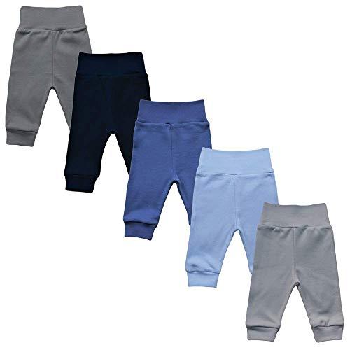 MEA BABY Unisex Baby Hose aus 100% Baumwolle im 5er Pack/Pumphose. Babyhose für Jungen Baby Hose für Mädchen, Schlupfhose, 86 cm, Jungen