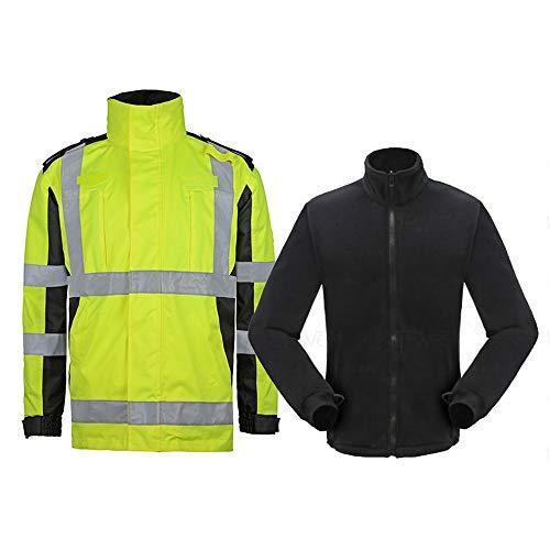 Xiao Jian Reflecterende regenjas voor heren, reflecterende katoenen mantel, high-speed straat, reflecterende katoenen kleding, veilig, overalls, koud wave, dikke jas, afneembaar