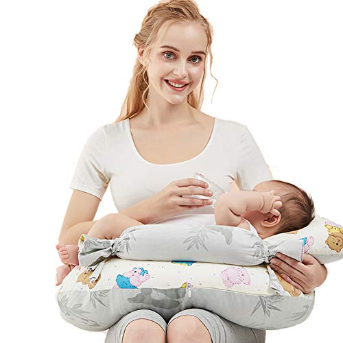 GOUO@ Coussin d'allaitement, Coussin d'allaitement, Coussin d'allaitement Ceinture Tenant Un bébé Fournitures pour Mois de bébé/Barrière de Bonbons Couverture pour bébé Variable Idéal pour Les Mam