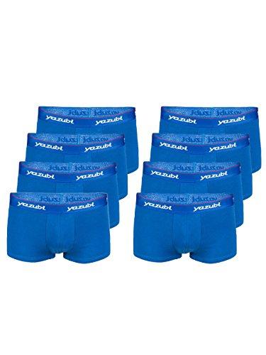 Yazubi Herren figurbetonten Shorts Unterhosen Blau sexy Männer Trunks Kurze Shorts Blaue Slips Set Mann Herr Lang, 8er Pack Blau (True Blue 194057), L