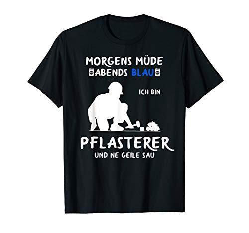 Pflaster Motiv für Pflastersetzer und Steinsetzer T-Shirt