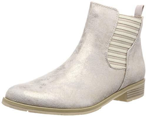 MARCO TOZZI Damen 2-2-25305-32 Chelsea Boots, Beige (Dune Metallic 412), 39 EU