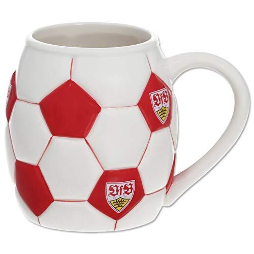 VfB Stuttgart Tasse - Fußball - Kaffeetasse, Becher, Pot, Mug - Plus Lesezeichen Wir lieben Fußball