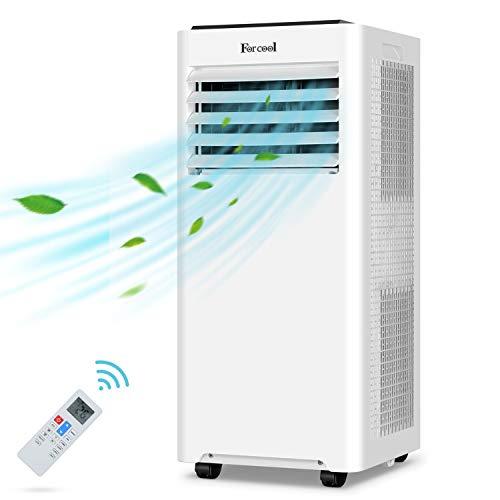 ForCool Condizionatore portatile 2.6 Kw/9000 BTU ad Raffreddatore d'aria silenzioso per 40 m². Condizionatore portatile 4 in 1 con raffreddamento, filtraggio dell'aria ventilata, deumidificata