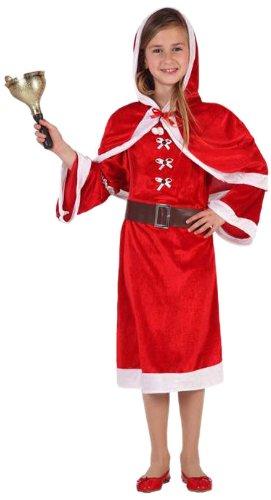 Atosa Costume di Natale Signora Bambina, Taglia: 104