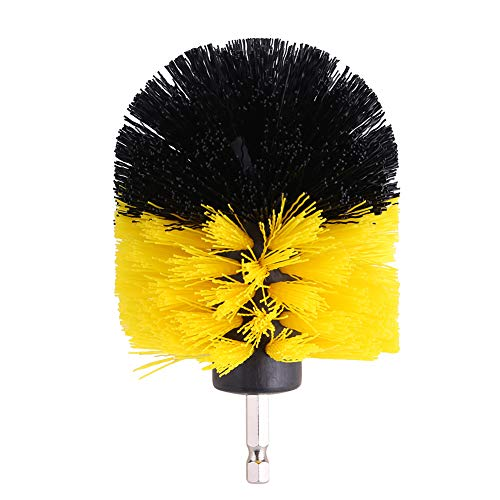 ffu Tile Grout Cleaner, Bathtub Toilet Brush PP Bristles Drill Accessory Cleaning Tool
