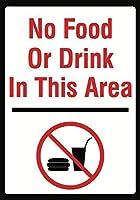 アートウォールデコレーションアルミニウムサインこのエリアに食べ物や飲み物はありません大規模な立ち入り禁止、パークサインパークガイドABC警告サイン私有財産の金属屋外危険サイン