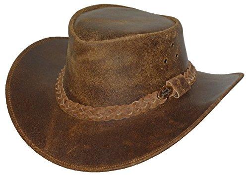 Black Jungle Dandenong - Sombrero de piel marrón
