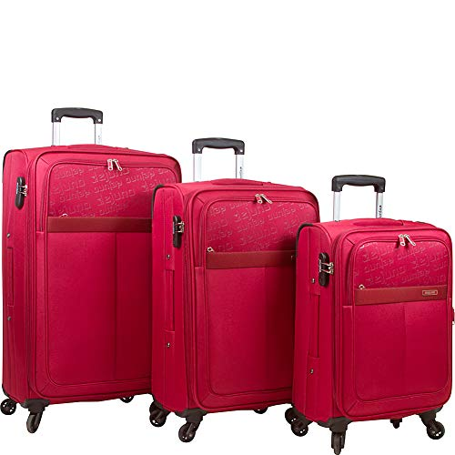Dejuno Tuscany Koffer-Set, leicht, 3-teilig, Rot, rot (Rot) - DJ-103-RED