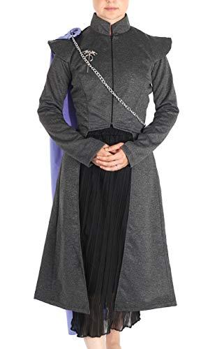 Game of Thrones Kostüm Mantel, Rock und Umhang von Daenerys Targaryen aus Staffel 7 GoT I Größe: S