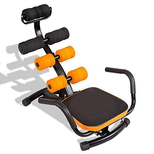 BJ&HH Fitness Abdominal Trainer Crunch Übungsbank Maschine 3 Stufen Einstellbare Robuste Konstruktion Soft Foam Sit-Up Maschine,Orange