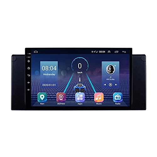Android 10.0 Radio Estéreo 2 DIN para B-MW X5 E39 E53 1995-2006 Navegación GPS IPS Pantalla táctil Reproductor Multimedia Receptor de Video con 4G WiFi Bluetooth SWC Carplay