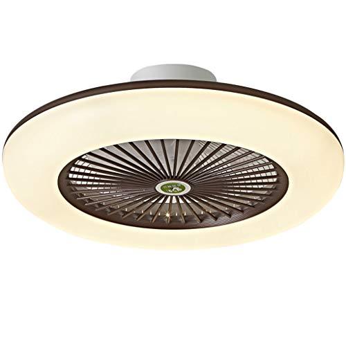 Ventilador de Techo con Iluminación Velocidad del Viento Ajustable Regulable con Control Remoto y Aplicación Bluetooth 32W Lámpara de Techo LED Moderna Para Dormitorio Sala de Estar Comedor Ø55cm