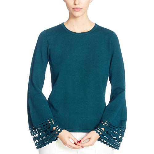 CATHERINE CATHERINE MALANDRINO Women's Deco Sweater, deep Teal, S Small