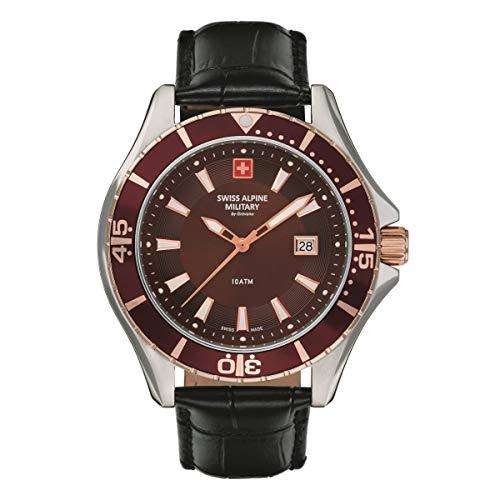 Swiss Alpine Military 7040 - Reloj analógico de cuarzo para hombre, piel