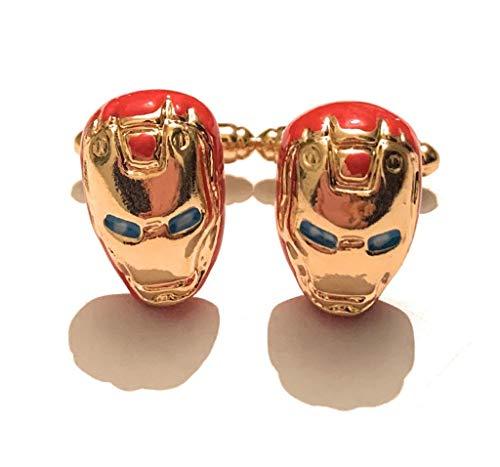 giulyscreations Manschettenknöpfe Iron Man Metall Nichel Free Ispirati Supereroi Avengers Tony Stark Fantasy Pop Cosplay