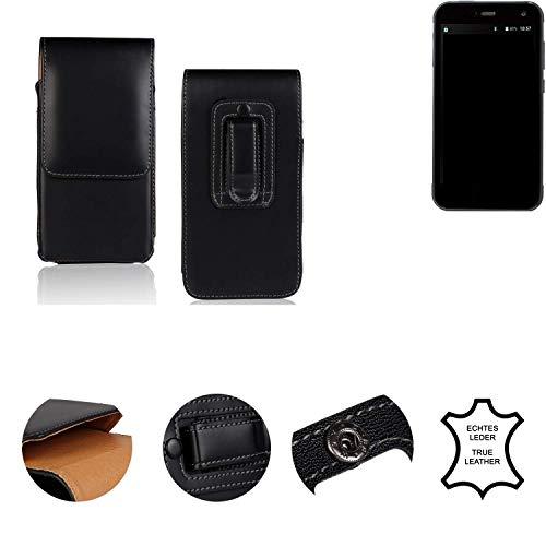 K-S-Trade® Holster Gürtel Tasche Für Cyrus CS 28 Handy Hülle Leder Schwarz, 1x