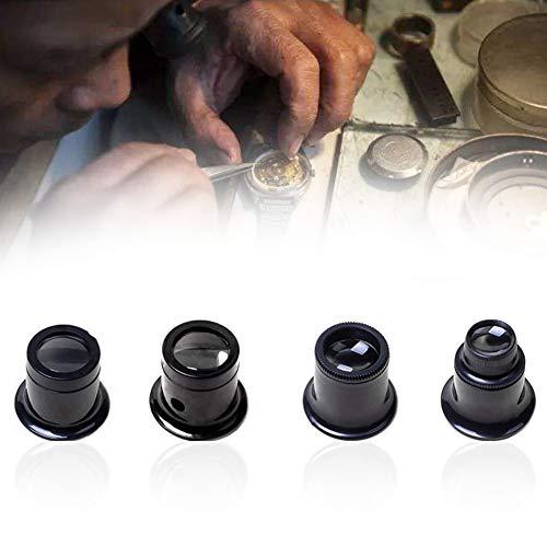 Lente di ingrandimento 5x 10x 15x 20x per orologeria e gioielleria, lente di ingrandimento portatile in vetro, strumento per riparazioni