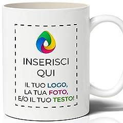 Idea Regalo - Tazza in Ceramica Personalizzata con Foto e Scritta Stampata
