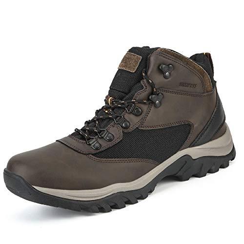 Men's Waterproof Hiking Boots Lightweight Non-Slip Outdoor Shoes Mid Top Ankle Support Hiker Trekking Work Boot