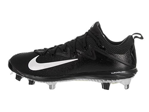 Nike Men's Lunar Vapor Ultrafly Elite Black/White/Black Baseball Cleat 12 Men US
