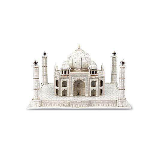 Ybzx Taj Mahal Puzzle, Puzzle 3D Atracciones mundialmente Famosas City Landmark Modelo de construcción Juguete Educativo para niños Puzzle Memorial