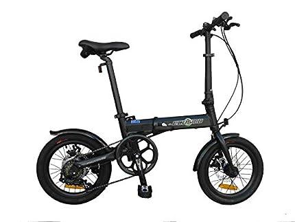 K+POP Bicicleta plegable ligera de la bici de la ciudad de la aleación de 16 pulgadas, 6 SP, frenos de disco duales - 16AF02BL