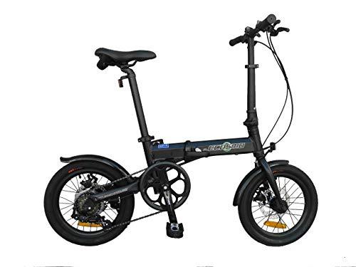 K+POP 16 'Bicicletta pieghevole in lega leggera da città,6 SP,freni a doppio disco - 16AF02BL