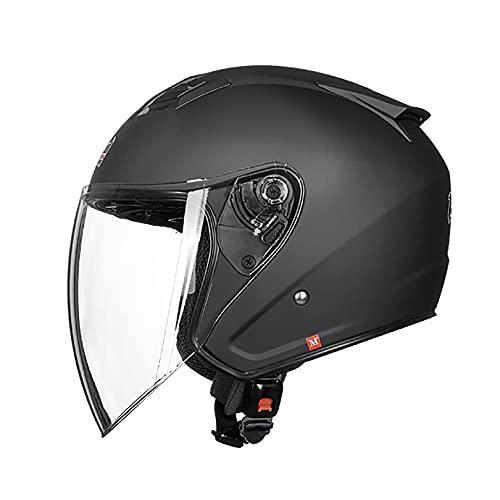 QHF Casco de Motocicleta de Cara Abierta - 100% Aprobado por Dot, protección contra Impactos multideportivos con Gafas para Hombres y Mujeres Adultos