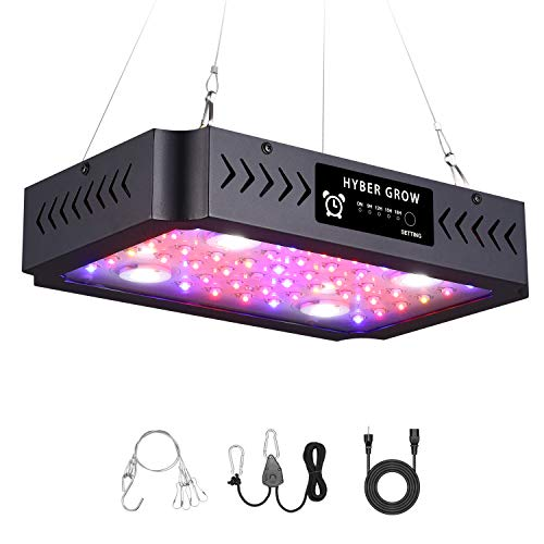 1000W LED Grow Light,2020 New Timer Dual Switch & Dual Chips Full Spectrum LED Grow Light Hydroponic Indoor Plants Veg and Flower(1000W)…