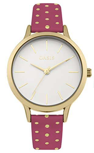 Oasis Damen Datum klassisch Quarz Uhr mit PU Armband B1600