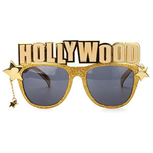 BESTOYARD Hollywood Party Brille Neuheit Sonnenbrille Brillen Party Favors Foto Prop Halloween Kostüme Cosplay Dekoration