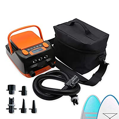 Rechargeable Dual Stage 16PSI Paddle Board Electric Pump Built-in 6000mAh Li-on Battery, Inflation and Deflation Function ISUP Pump with Carry Bag for Inflatable ISUP,Kayak,Tent, Boat, Yoga Ball ect.