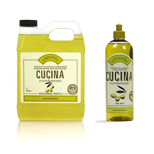 Fruits & Passion [Cucina] - Coriander & Olive Liquid Dish Detergent Refill Duo Bundle (50.7 fl oz)