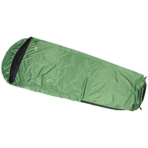 MFH Schlafsacküberzug Light Schlafsackhülle Mumienform Wasserdicht Biwaksack Überzug (Oliv)