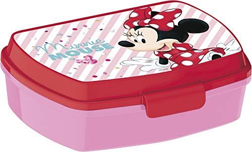 Little Flight Minnie, papilla escolar, caja de almuerzo de plástico rígido (1 caja de plástico rígido)