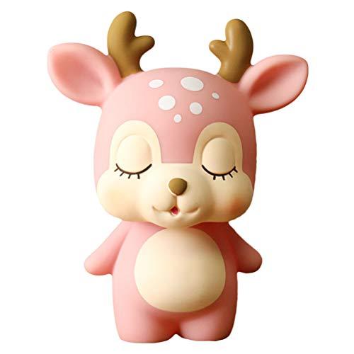 Toyvian Coin Bank Piggy Bank Cash Money Bank para niños, Deer Saving Pot (rosa)