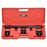 EWK Dual Inner Tie Rod Removal Tool Set with 3 Adapters 1-3/16 1-5/16 1-7/16 Inch for GM Ford Chrysler