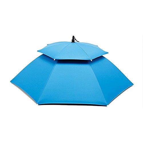 ZHUSAN vissen paraplu dubbele laag vouwen mini hoed parasol gedragen op het hoofd voor mannen vrouwen voor boerderij Angling Gear accessoires