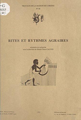 Rites et rythmes agraires: Séminaire de recherche (French Edition)