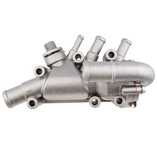 GXDD Termostato de aluminio con alojamiento + Juntas del sensor adecuado para Ford Fiesta MK5 1.3 Duratec 1149617 2S6G9K478A2B 256G8A586Aquímico