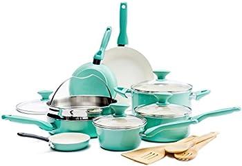 16-Piece GreenPan Rio Healthy Ceramic Nonstick Cookware Set