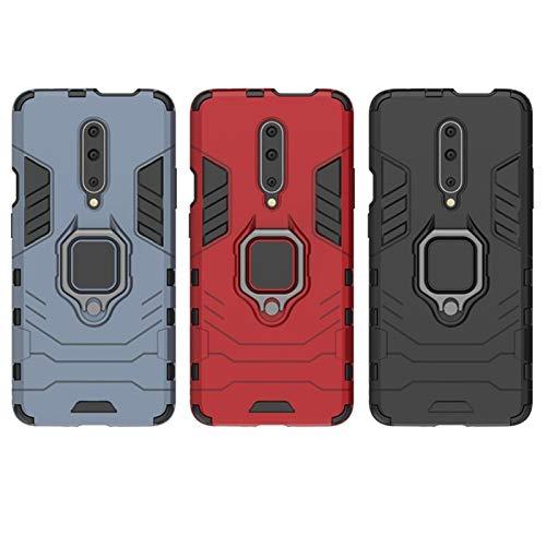 Caja del teléfono 10pcs Funda de la armadura delgada de la armadura con la cubierta posterior con el soporte del anillo invisible Ajuste fit for OnePlus 8T 7T 6T 8 7 Pro Nord N10 N100 5G Funda Complet